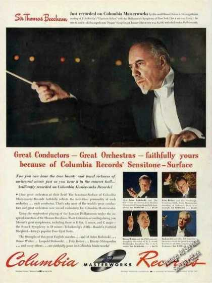 Sir Thomas Beecham Photo Rare Columbia Records (1942)