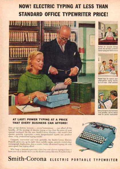 Smith Corona Electric Portable Typewriter (1958)