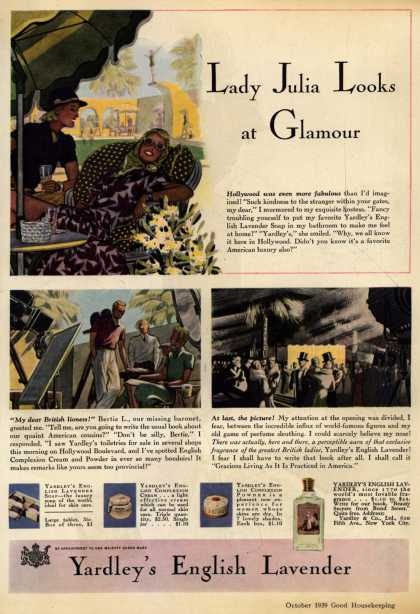 Yardley & Co., Ltd.'s English Lavender Cosmetics – Lady Julia Looks at Glamour (1939)