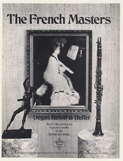 French Masters Degas Renoir Buffet Clarinet (1971)