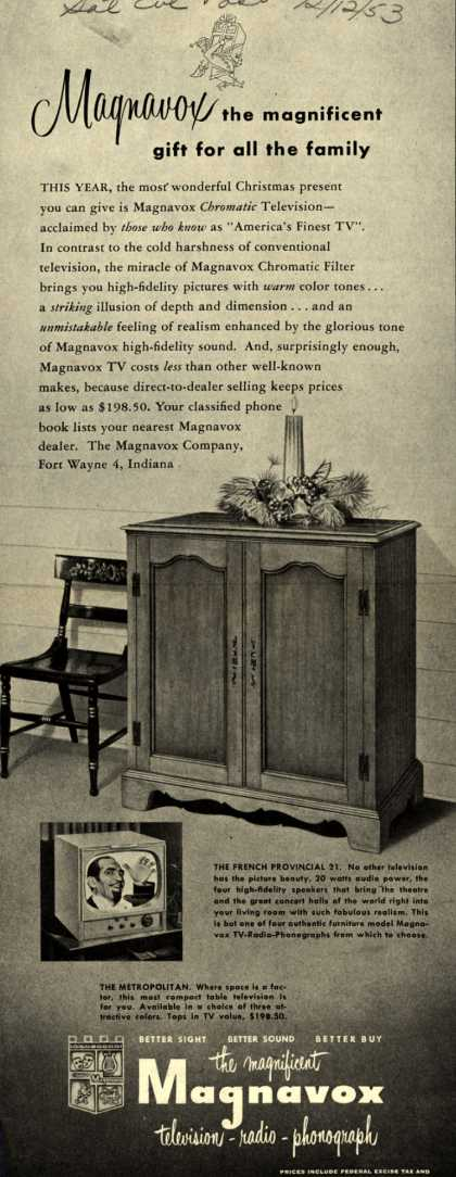 Magnavox Company's various – Magnavox the magnificent gift for all the family (1953)