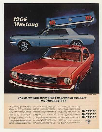 Ford Mustang Hardtop Improve on a Winner (1966)