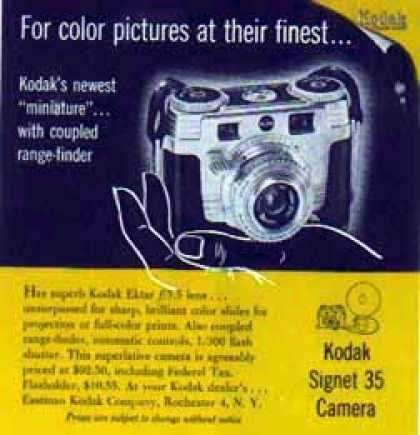 Kodak Camera – The Signet 35 with Ektar F – 3.5 Lens (1952)