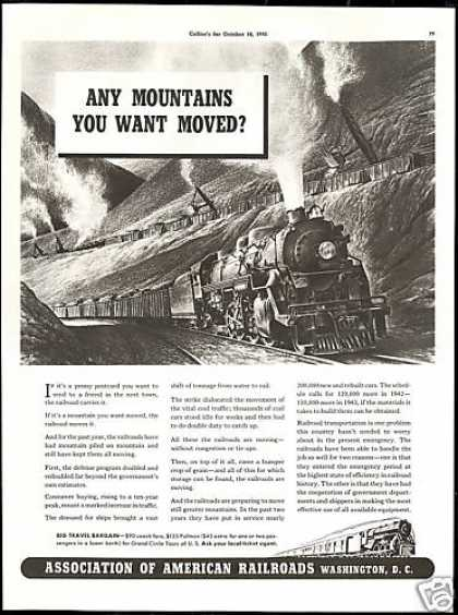 Train Moves it Association of American Railroad (1941)