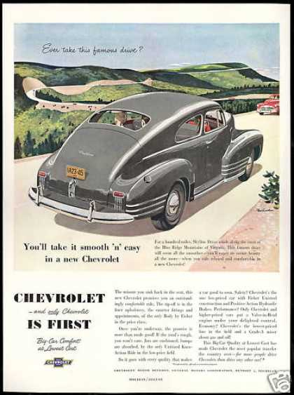 Chevrolet Fleetline Car Virginia Blue Ridge Mt (1948)