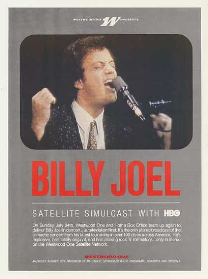 Westwood One Billy Joel HBO Concert Photo (1983)