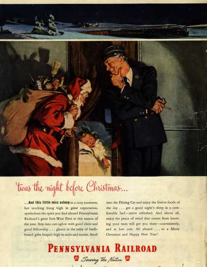 Pennsylvania Railroad – 'twas the night before Christmas... (1948)