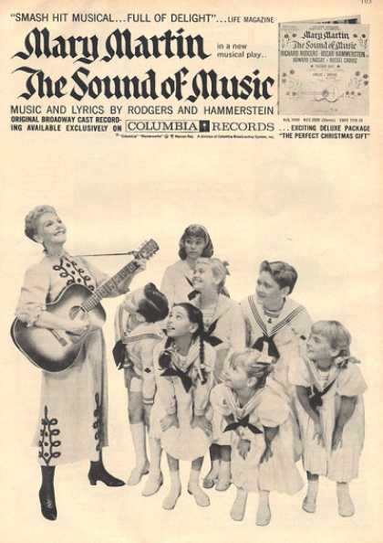 Columbia Records Mary Martin Sound of Music (1959)