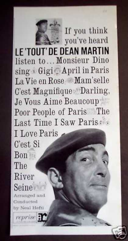 Dean Martin French Style Music Record Promo (1962)