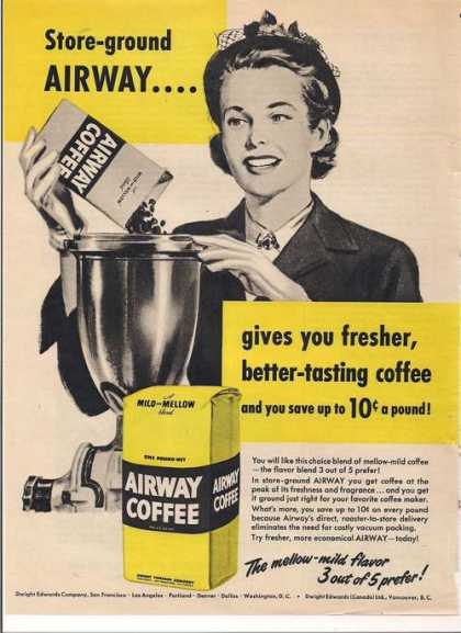 Airway Better Tasing Coffee (1951)