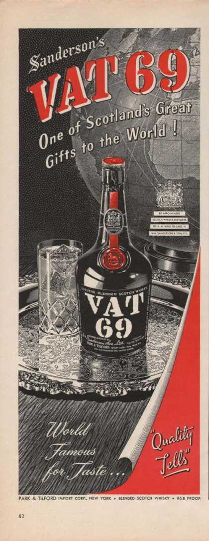 Vat 69 Scotlands Great Whisky (1949)