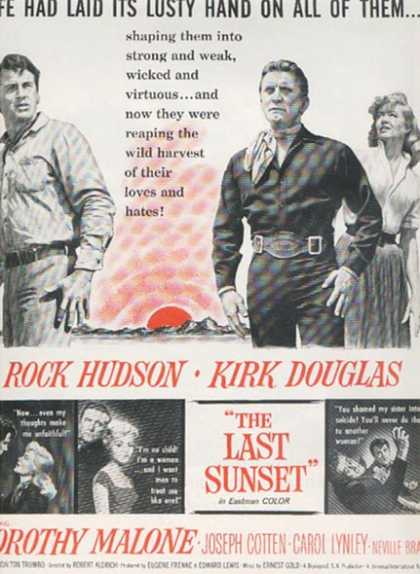 The Last Sunset (Rock Hudson and Kirk Douglas) (1961)