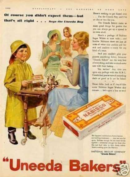 Uneeda Bakers Nabisco Sugar Wafers Color (1930)