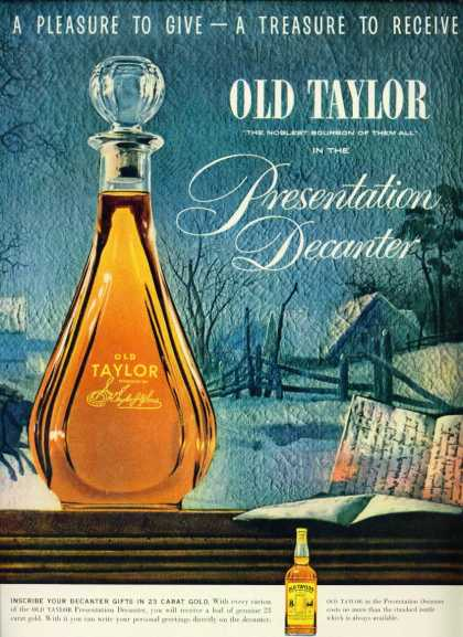 Old Taylor Bourbon Whiskey Presentati