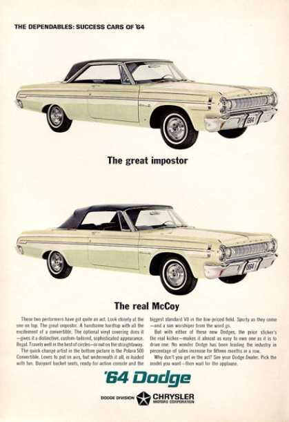 Dodge Polara 500 Hardtop Convertible Print (1964)