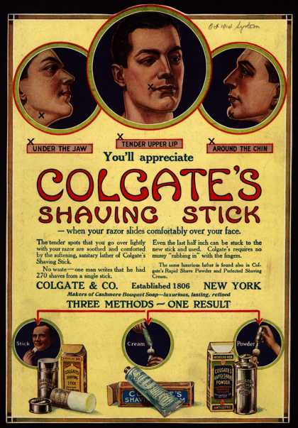 Colgate &amp; Company&#8217;s Colgate&#8217;s Shaving Stick &#8211; Colgate&#8217;s Shaving Stick (1914)