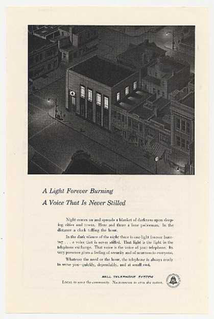 Bell Telephone Building Light Forever Burning (1954)