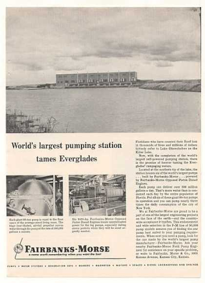 Lake Okeechobee FL Pump Station Fairbanks-Morse (1955)