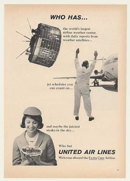 '65 United Airlines Weather Satellite Jet Stewardess (1965)