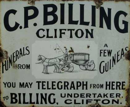 C. B. Billing Telegraph and Funeral Services