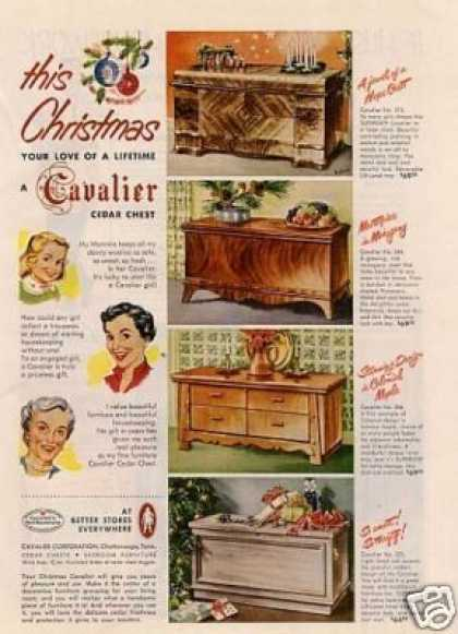 Cavalier Cedar Hope Chests (1951)