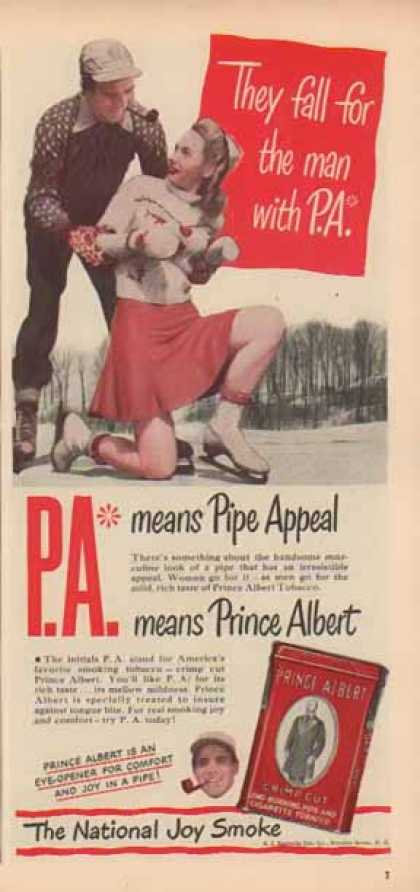Prince Albert Cigarette Tobacco – Fall for P.A. (1947)