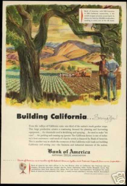 California Farm Art Financing Bank Of America (1953)