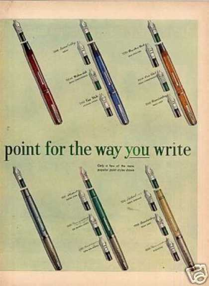 Esterbrook Fountain Pens Ad 2 Page (1951)