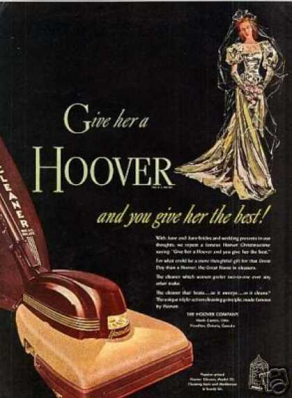 Hoover Vacuum Cleaner Ad Model 28 (1947)