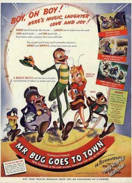 """Mr. Bug Goes To Town"" Collectible Movie (1942)"