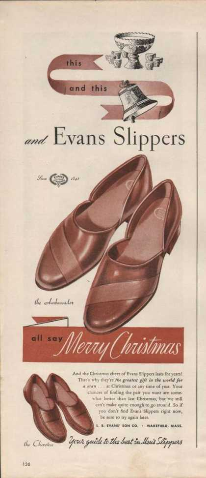 Evans Slippers Cherokee for Men (1946)