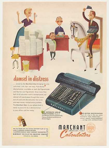 '51 Damsel in Distress Saved Marchant Calculator Man (1951)