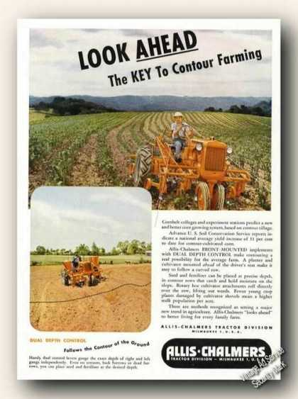 Allis-chalmers Contour Farming Old Tractor (1947)