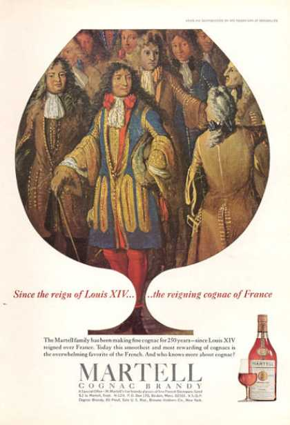Martell Cognac Brandy Louis Xiv Reign Bottle (1966)