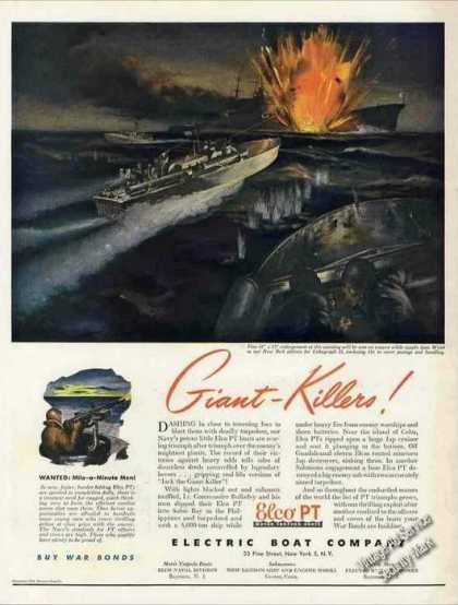 "Wwii Elco Pt Art ""Giant-killers (1943)"