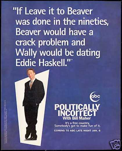 Bill Maher ABC Politically Incorrect Beaver (1996)