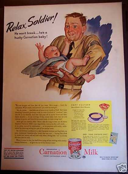 Carnation Milk Soft Custard Recipe for Baby (1944)