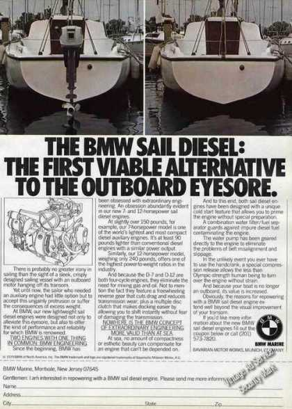 Bmw Sail Diesel: Alternative To Outboard Photos (1980)