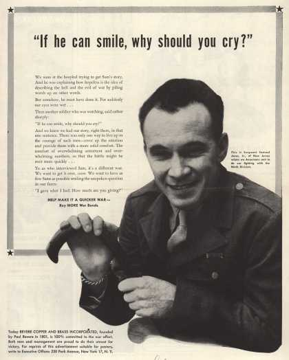 Revere Copper and Bras's War Bonds – If He Can Smile, Why Should You Cry? (1944)