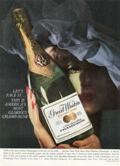 Great Western New York Champagne Bottle (1958)