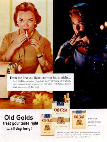Old Gold Cigarettes (1955)