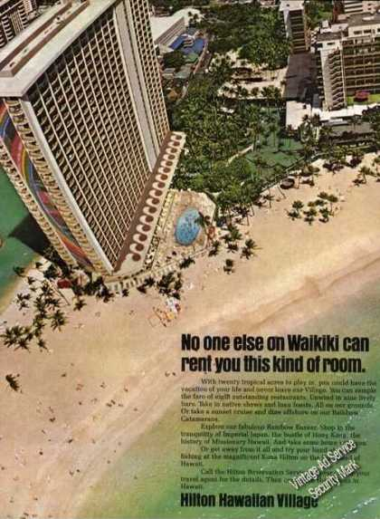 Aerial View Hilton Hawaiian Village Waikiki (1976)