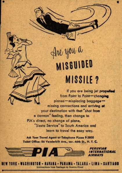 Peruvian International Airways – Are you a Misguided Missile? (1948)