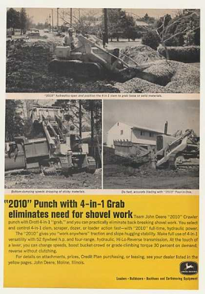 John Deere 2010 Crawler with Drott 4-in-1 Grab (1964)