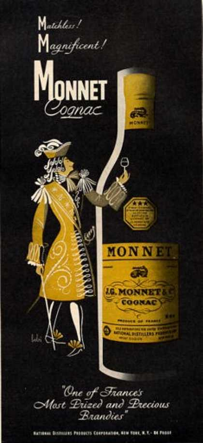 France Monnet Cognac Bottle (1951)