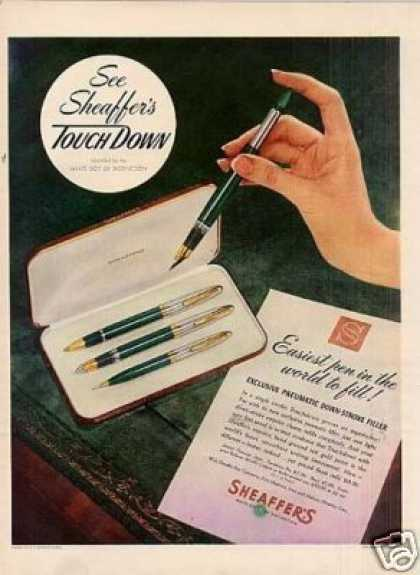 Sheaffer's Touchdown Fountain Pen (1949)