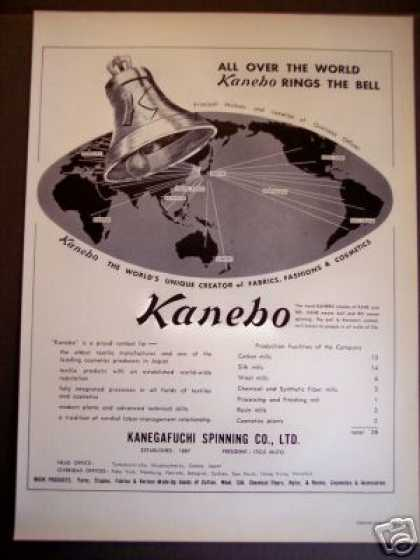 Kanebo of Japan Fabrics Fashion Trade (1963)