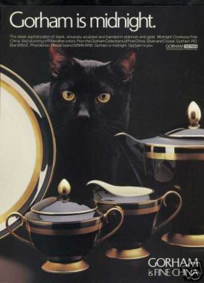 Cat Black Gorham Contessa China Photo (1986)