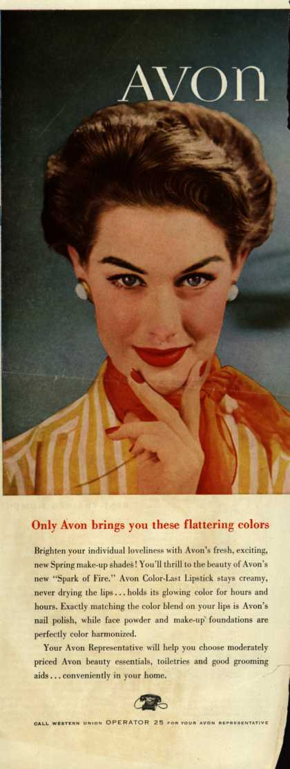 Avon – Only Avon brings you these flattering colors (1954)