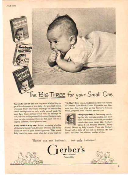 Gerber's Baby Food – Babies are our business (1950)